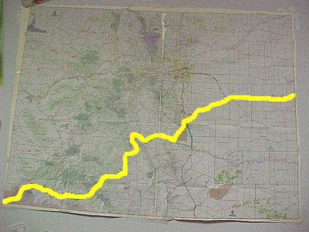Bike Across Colorado Map