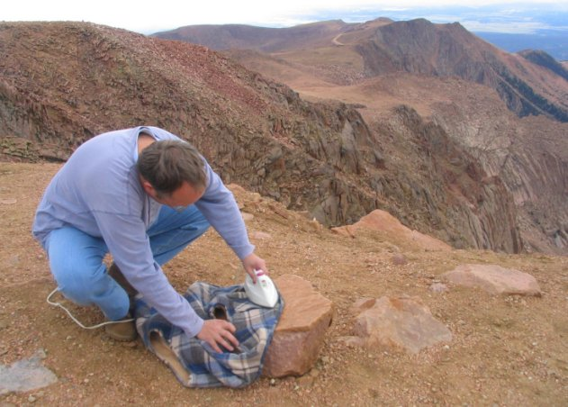 Extreme Ironing in Colorado