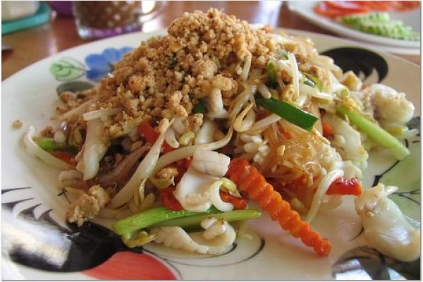 Squid Pat Thai Food