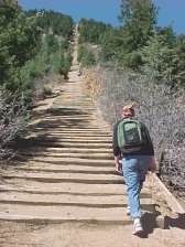 Lisa on the Manitou Incline