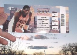 Denver Nuggets Ticket Stub